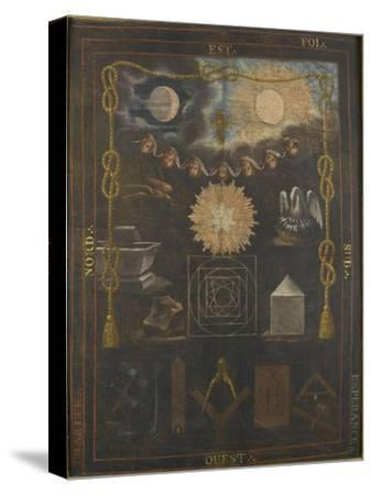 Tableau du chapître du quatrième ordre ou tapis de loge--Stretched Canvas Print