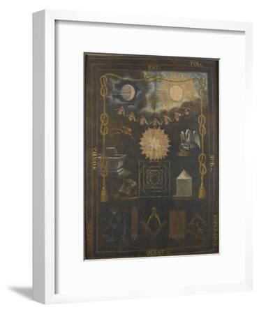 Tableau du chapître du quatrième ordre ou tapis de loge--Framed Giclee Print