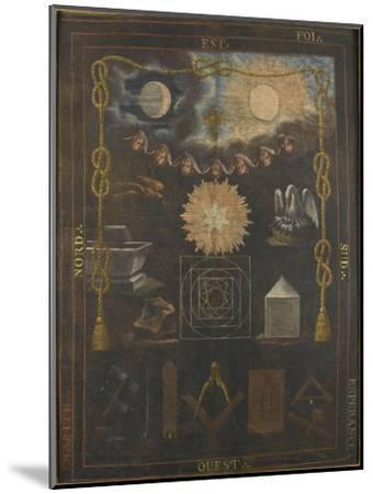 Tableau du chapître du quatrième ordre ou tapis de loge--Mounted Giclee Print