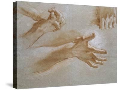 Etude de mains--Stretched Canvas Print