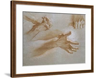 Etude de mains--Framed Giclee Print