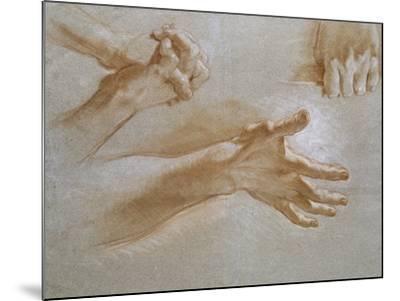Etude de mains--Mounted Giclee Print