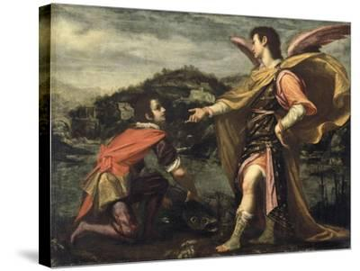 The Angel Raphael to Tobias Ordered to Open the Fish--Stretched Canvas Print