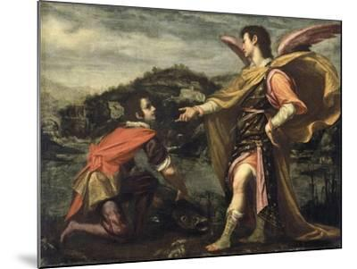 The Angel Raphael to Tobias Ordered to Open the Fish--Mounted Giclee Print