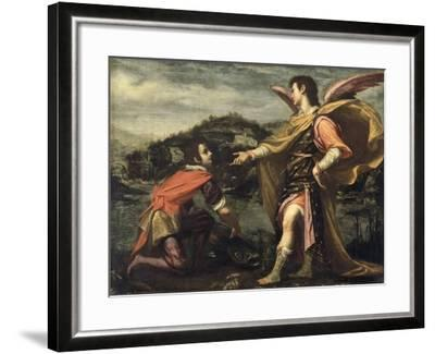 The Angel Raphael to Tobias Ordered to Open the Fish--Framed Giclee Print
