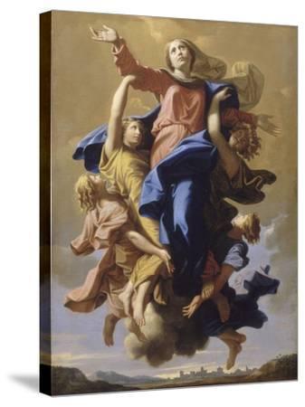 L'Assomption de la Vierge-Nicolas Poussin-Stretched Canvas Print