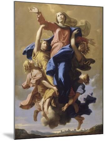 L'Assomption de la Vierge-Nicolas Poussin-Mounted Giclee Print