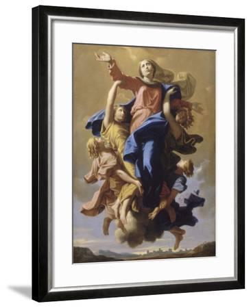 L'Assomption de la Vierge-Nicolas Poussin-Framed Giclee Print