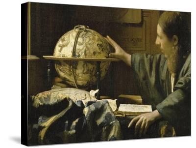 L'astronome dit aussi l'Astrologue-Johannes Vermeer-Stretched Canvas Print
