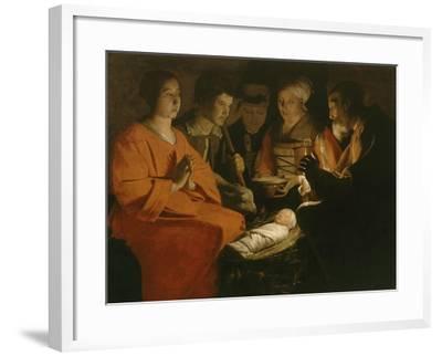 L'Adoration des bergers-Georges de La Tour-Framed Giclee Print