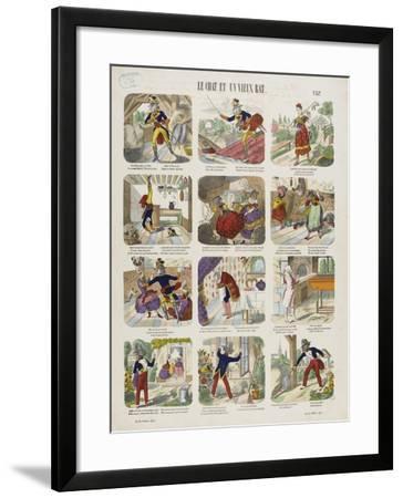 Le chat et le vieux rat--Framed Giclee Print