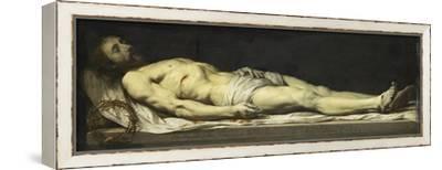Le Christ mort couché sur son linceul-Philippe De Champaigne-Framed Stretched Canvas Print