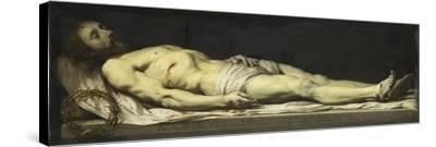 Le Christ mort couché sur son linceul-Philippe De Champaigne-Stretched Canvas Print