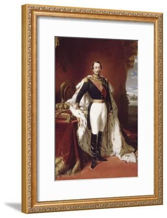 L'empereur Napoléon III (1808-1873) en pied-Franz Xaver Winterhalter-Framed Giclee Print