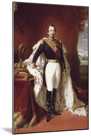 L'empereur Napoléon III (1808-1873) en pied-Franz Xaver Winterhalter-Mounted Giclee Print