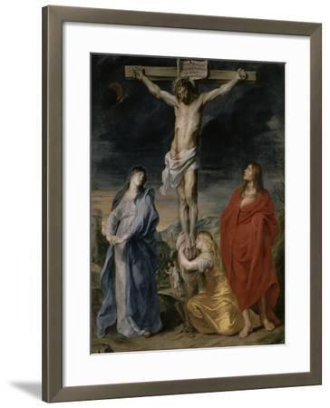 Le Christ en croix, la Vierge, Saint Jean et Sainte Madeleine-Sir Anthony Van Dyck-Framed Giclee Print
