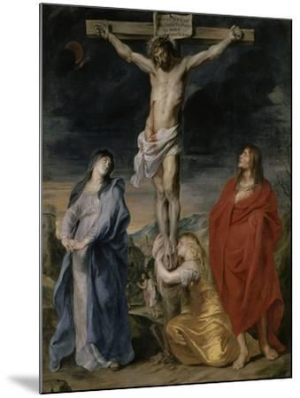 Le Christ en croix, la Vierge, Saint Jean et Sainte Madeleine-Sir Anthony Van Dyck-Mounted Giclee Print