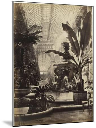 Crystal Palace : Montis Fountain and nave looking South (fontaine Montis et nef vue du sud)-Joseph Warren Zambra-Mounted Giclee Print