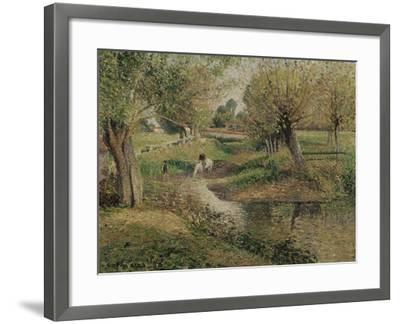 L'Abreuvoir, Eragny-Camille Pissarro-Framed Giclee Print