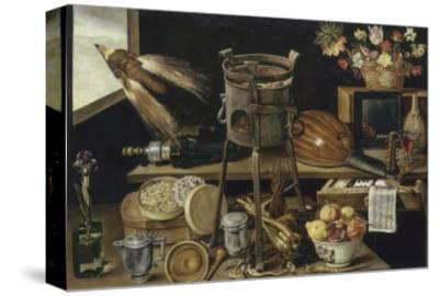 Les cinq sens et les quatre éléments-Jacques Linard-Stretched Canvas Print