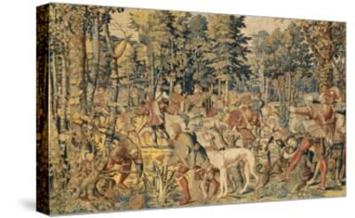 """Les Chasses de Maximilien dites """"Belles chasses de Guise""""-Orley Barend Van-Stretched Canvas Print"""