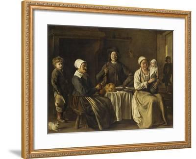 La Famille heureuse ou le retour du baptême-Louis Le Nain-Framed Giclee Print