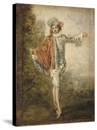 L'Indifférent-Jean Antoine Watteau-Stretched Canvas Print