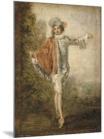 L'Indifférent-Jean Antoine Watteau-Mounted Giclee Print
