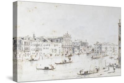 Le Grand Canal à Venise-Francesco Guardi-Stretched Canvas Print