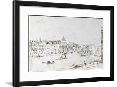 Le Grand Canal à Venise-Francesco Guardi-Framed Giclee Print