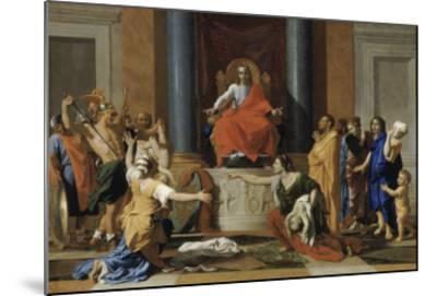 Le jugement de Salomon-Nicolas Poussin-Mounted Giclee Print