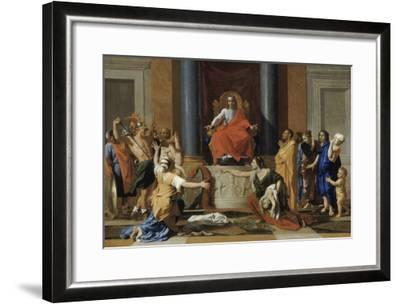 Le jugement de Salomon-Nicolas Poussin-Framed Giclee Print