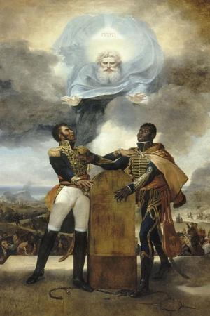 Le Serment des Ancêtres-Guillaume Guillon Lethière-Stretched Canvas Print