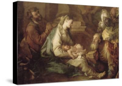 La Nativité, avec l'Adoration des mages-Charles de La Fosse-Stretched Canvas Print