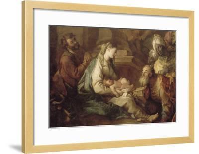 La Nativité, avec l'Adoration des mages-Charles de La Fosse-Framed Giclee Print
