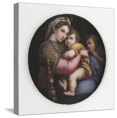 La Vierge à la chaise-Raffaello Sanzio-Stretched Canvas Print