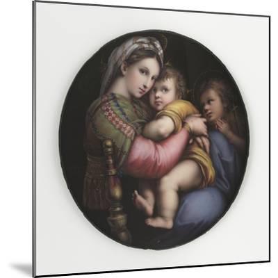 La Vierge à la chaise-Raffaello Sanzio-Mounted Giclee Print