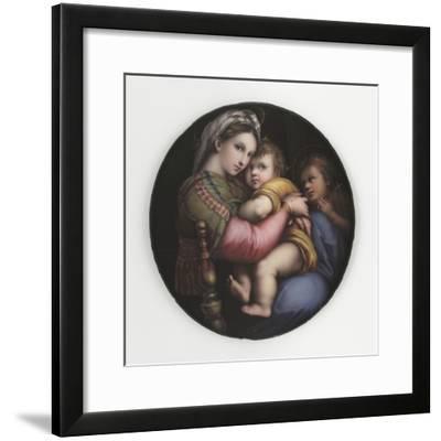 La Vierge à la chaise-Raffaello Sanzio-Framed Giclee Print