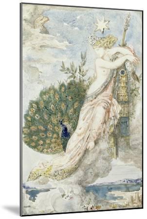 Le Paon se plaignant à Junon. Etude pour les Fables de La Fontaine-Gustave Moreau-Mounted Giclee Print