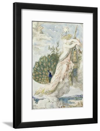 Le Paon se plaignant à Junon. Etude pour les Fables de La Fontaine-Gustave Moreau-Framed Giclee Print