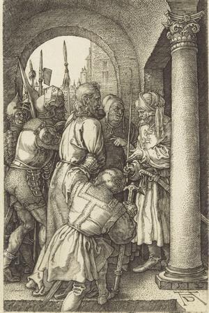 La Passion du Christ (1507-1513). Le Christ devant Pilate-Albrecht D?rer-Stretched Canvas Print