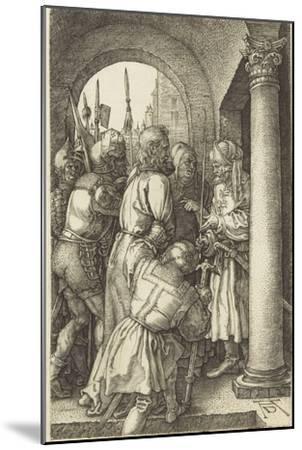 La Passion du Christ (1507-1513). Le Christ devant Pilate-Albrecht D?rer-Mounted Giclee Print