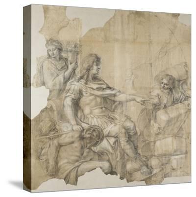 Le Rétablissement de la navigation-Charles Le Brun-Stretched Canvas Print
