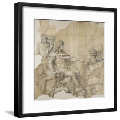Le Rétablissement de la navigation-Charles Le Brun-Framed Giclee Print