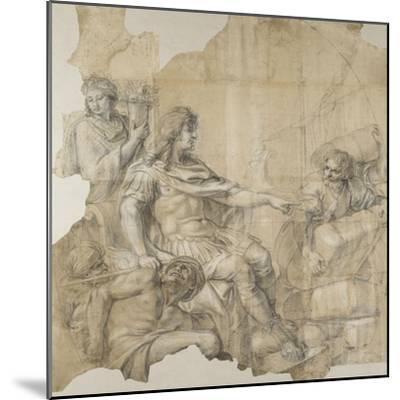 Le Rétablissement de la navigation-Charles Le Brun-Mounted Giclee Print