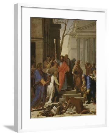 La Prédication de saint Paul à Ephèse-Eustache Le Sueur-Framed Giclee Print