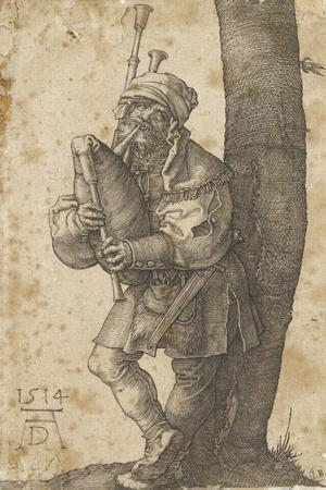 Le joueur de cornemuse-Albrecht D?rer-Stretched Canvas Print