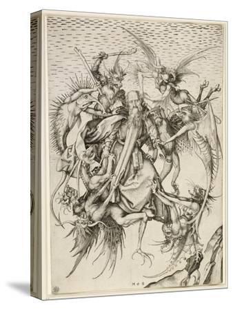La Tentation de saint Antoine-Martin Schongauer-Stretched Canvas Print