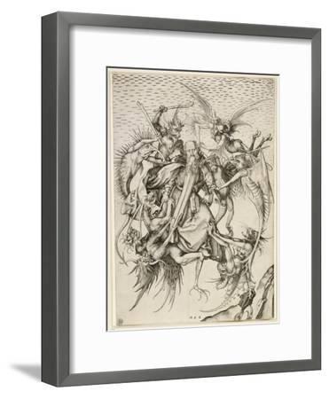 La Tentation de saint Antoine-Martin Schongauer-Framed Giclee Print