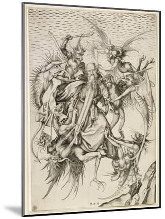 La Tentation de saint Antoine-Martin Schongauer-Mounted Giclee Print